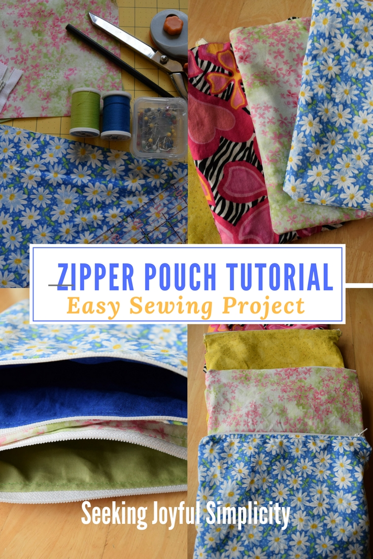 Sewing zippered pouches is a little addictive. When you don't have the time or the energy to tackle a bigger sewing project, learning how to sew a zippered bag is a great way to create something practical and pretty. In less than an hour, you can create a handful in different colors and sizes (once you get started, the process goes quickly!) And the creative possibilities are endless. Ready to start? Follow my zippered pouch tutorial!