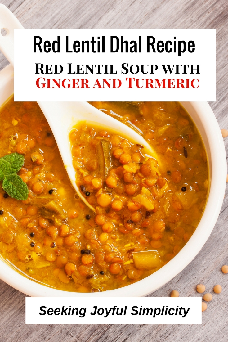 This warming red lentil dhal recipe has ingredients that not only provide flavor and aroma, but are also brimming with health benefits.