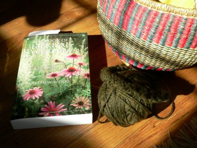 Yarn Along – Reading and Knitting