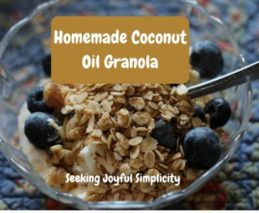 """This easy coconut oil granola recipe is delicious and good for you. I have always enjoyed granola, and knew that somehow it was supposed to be """"good for me"""", but I never really understood all the reasons why, or how to make granola. Protein and fiber-rich nuts and oats combined with healthy coconut oils will keep you healthy and satisfied. Once you make your own granola, you will be reluctant to go back to store bought cereals again."""