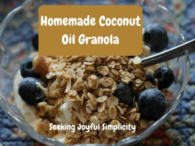 Simple Granola With Coconut Oil