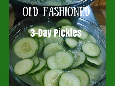 Old Fashioned Three-Day Pickles