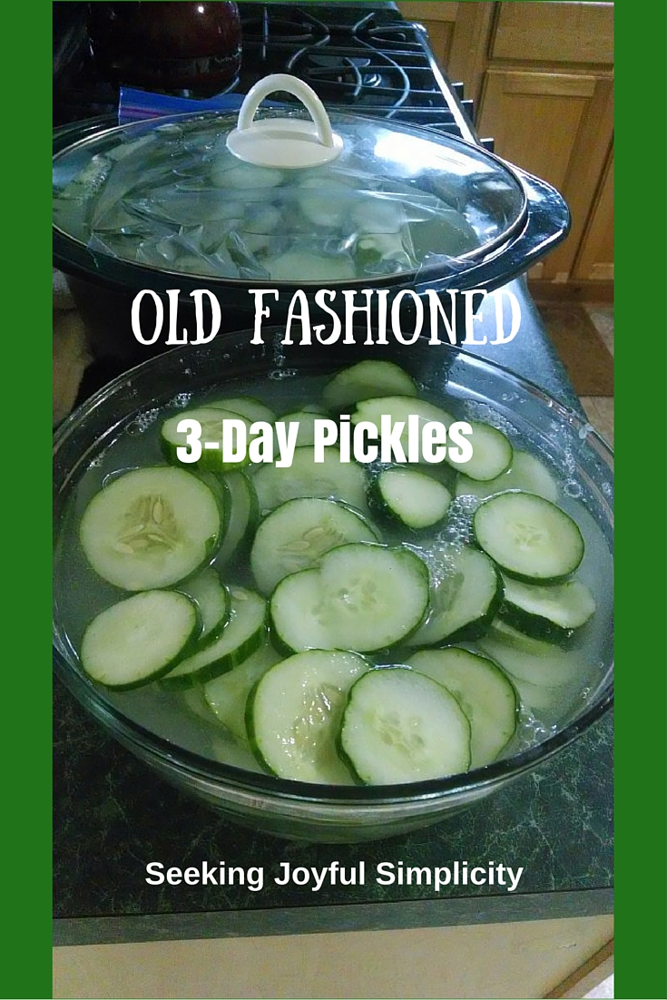 Ready for a new pickle recipe? How about an old-fashioned 3-day pickle - Crisp and Delicious!