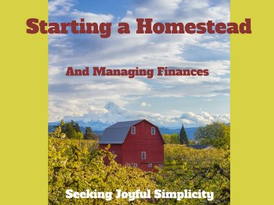 Starting a Homestead – Homestead Finances
