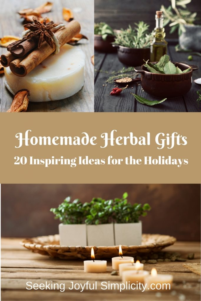 Homemade herbal gifts are a delightful way to share our love for everything herbal. Instead of joining the holiday shopping rush, we can take the time to slow down and enjoy the creative process of making simple gifts for those we love. Homemade herbal gifts for friends and family is a great way to spread love and good health. Enjoy this inspiring list of 20 easy to make herbal gifts.