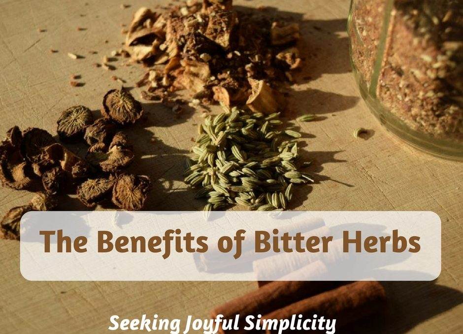 Bitter herbs and bitter tinctures offer wonderful health benefits. Using bitters for health, we can improve our digestion, find relief from gas, bloating, and constipation, enjoy better nutrient absorption, and even improve skin conditions like eczema and acne. But most importantly, using the gut-brain connection, bitters can improve our mood and offer relief from chronic stress. I will share my favorite homemade bitter tincture recipe and show you how to make a bitter tincture.