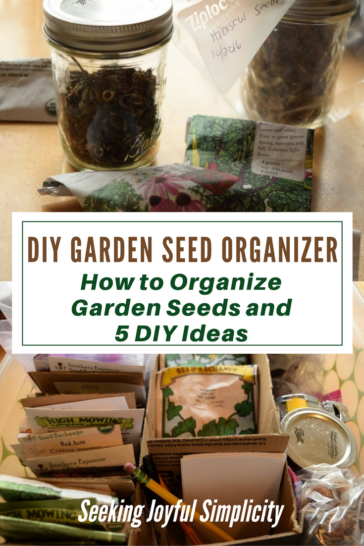Do you have trouble organizing your garden seeds? Each year my seed collection grows as I explore new varieties of vegetables, herbs, and flowers, and my little seed basket is overflowing! Trying to find an easy DIY seed organizer, I searched the web for practical ideas on how to organize garden seeds. Let me show you my simple DIY seed organizer and links to some of the best ideas I discovered.