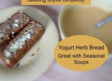Yogurt Herb Bread with Seasonal Soup