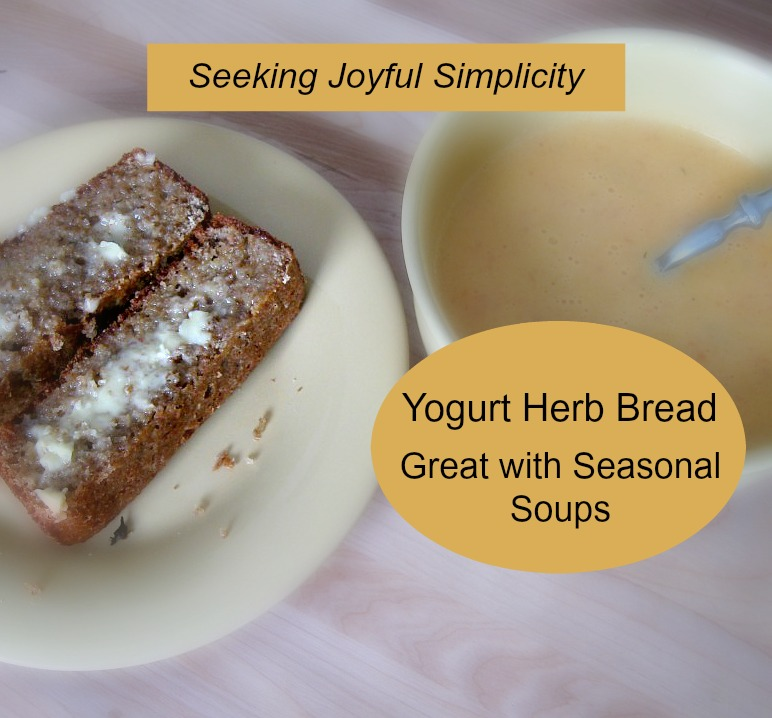 Yogurt Herb Bread with Seasonal Soup