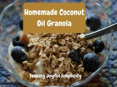 "This easy coconut oil granola recipe is delicious and good for you. I have always enjoyed granola, and knew that somehow it was supposed to be ""good for me"", but I never really understood all the reasons why, or how to make granola. Protein and fiber-rich nuts and oats combined with healthy coconut oils will keep you healthy and satisfied. Once you make your own granola, you will be reluctant to go back to store bought cereals again."
