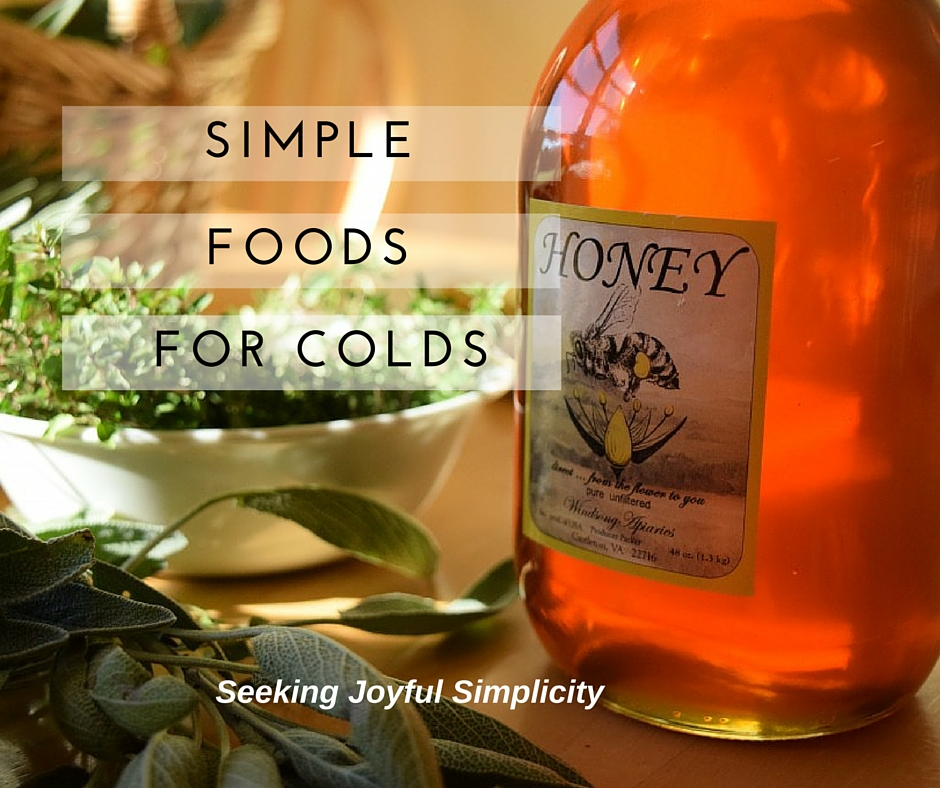 Treating our colds and flu at home doesn't require complicated recipes or difficult to obtain and expensive ingredients. We can use simple foods for cold and flu. Combing raw honey with garlic, ginger, and sage makes an effective and great-tasting medicine for the entire family.