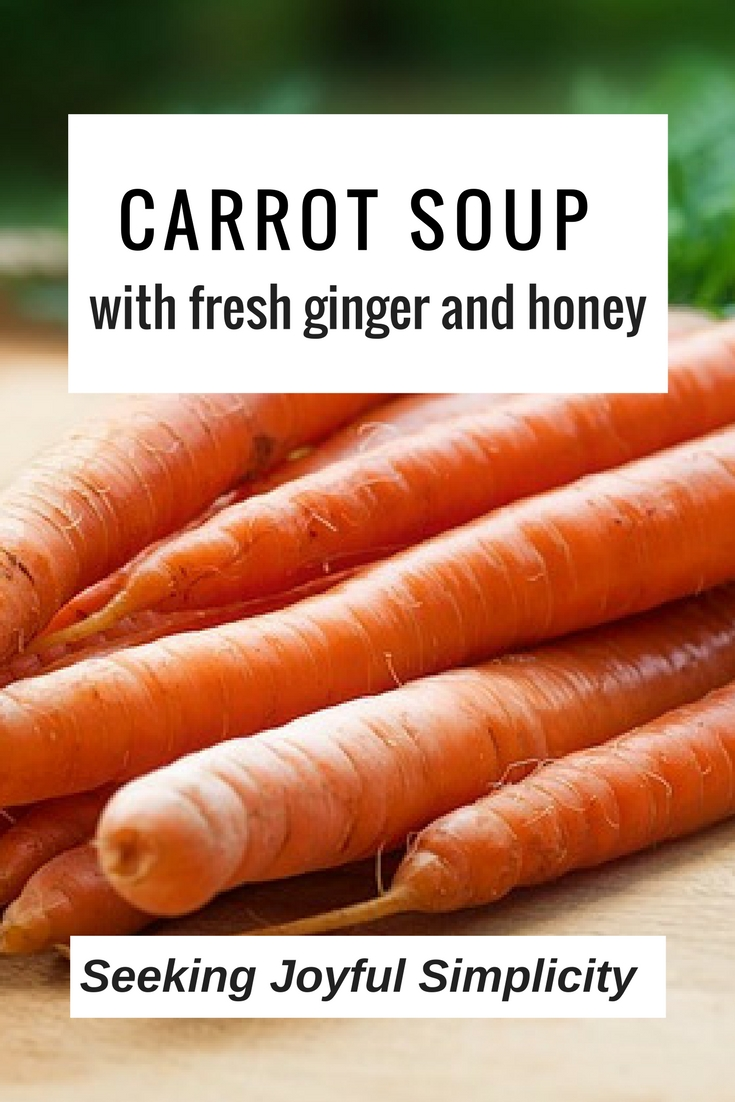Carrots, sweet raw honey, and fresh ginger - excellent carrot soup recipe