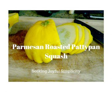 Parmesan Roasted Pattypan Squash