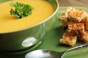 A delightful butternut squash recipe with a rich creamy texture. Serve this a variety of ways - add fresh grated ginger, a touch of cinnamon, clove, and nutmeg, or you can try a spicy version of tomato butternut soup