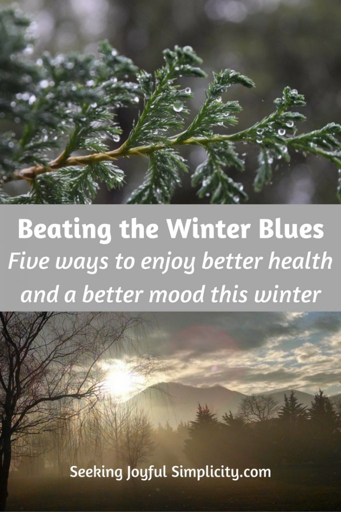 This is the time of year that many of us start feeling down, as the days turn gray and the long nights leave us missing the sun. Instead of suffering another year with the winter blues, and trying to find relief through caffeine, sugar, and comfort foods, let's make a promise to take better care of ourselves. These five ways to beat the winter blues won't magically make you happy, but they will help you enjoy better health and a better mood this winter.
