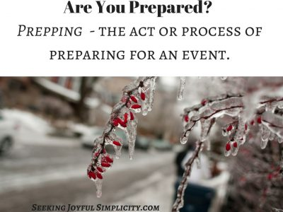 Prepping for beginners - what do we need to be prepared for, how to start prepping, and how do we keep it simple? Prepping used to be considered a radical activity, but more and more we are realizing the need to be prepared for all kinds of emergency situations. When you consider the definition of Prepping, it becomes clear we all can benefit from basic planning: Prepping - the act or process of preparing something or preparing for something. - the practice of making active preparations for a possible catastrophic disaster or emergency, typically by stockpiling food, ammunition, and other supplies.