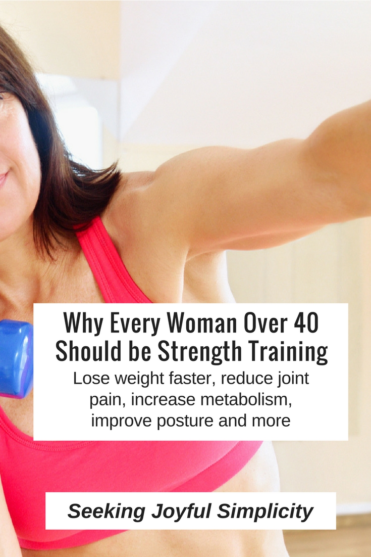 Want to enjoy a stronger body, greater self-confidence, faster weight loss, a better posture, and more energy? Strength training offers the most benefit for the least amount of time. Here's 10 reasons every woman over 40 should be doing strength training.