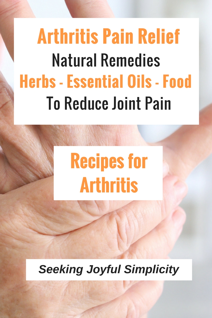 Natural remedies for reducing joint pain using herbs, essential oils, and food. Painful joints can have such a devastating effect on the quality of our lives and make us feel much older than our chronological age. Living with vibrant health requires good self-care, but it can be hard to stay motivated when we are experiencing pain on a daily basis. Although there are many causes for joint pain, reducing joint pain naturally with diet and herbs can offer significant relief.